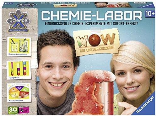 Ravensburger ScienceX 18937 - Chemiebaukasten WOW Die Entdeckerzone