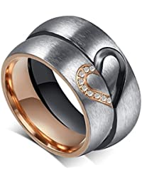 """Brand New Amazing Titanium Stainless Steel """"We Love Each Other"""" Wedding Band Set Anniversary/engagement/promise/couple Ring Best Gift!"""