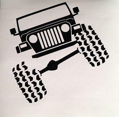 Expressive Vinyls Jeep Wrangler TJ Funny Vinyl Decal Sticker Truck iPad Offroad Got Mud? MacBook