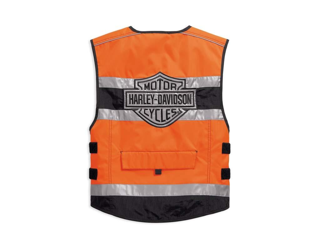 Harley-Davidson Hi-Visibility Orange Reflective Vest Warnweste S 98157-18EM