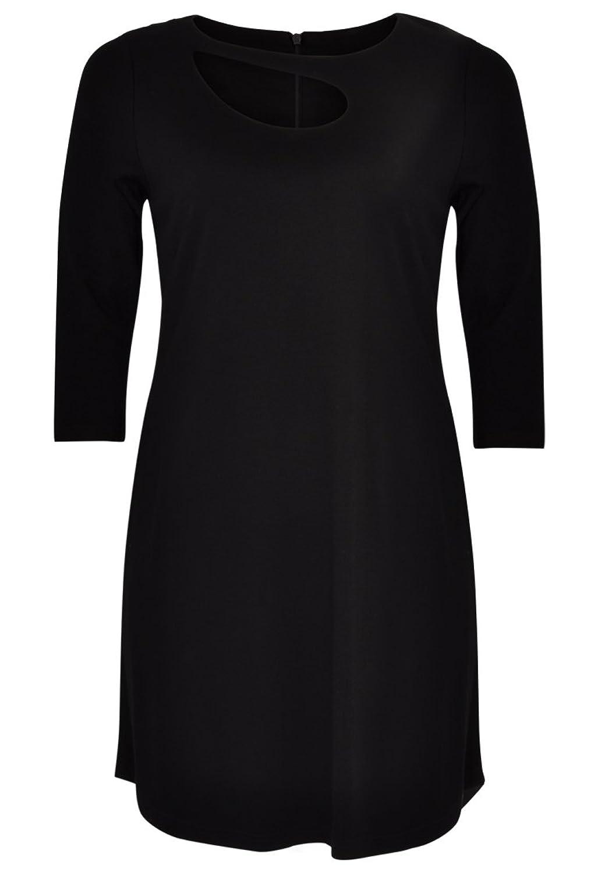 Yoek Womens Plus Size Long Sleeve Dress Cut Out Detail