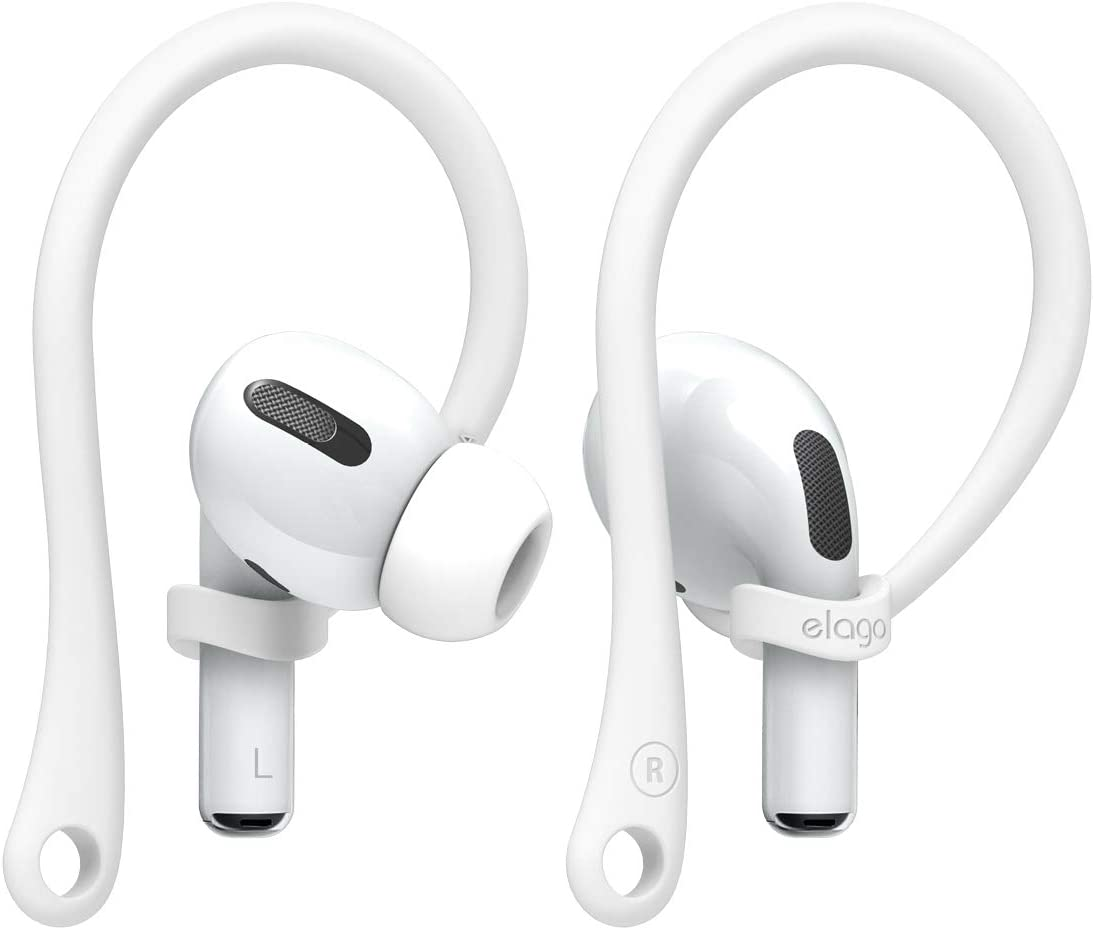 elago AirPods Pro Ear Hooks Designed for Apple AirPods Pro and AirPods 1 & 2 (White) [US Patent Registered]