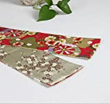Table Runners Chinese style brocade table flag small tea stand chinese wind farm new classical tea table flag fabric1035-B 10x35cm(4x14inch)