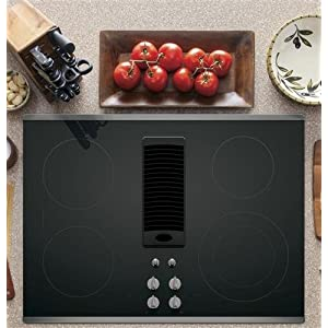 "GE Profile Series 30"" Downdraft Electric Cooktop with Stainless Steel Trim PP9830SJSS"