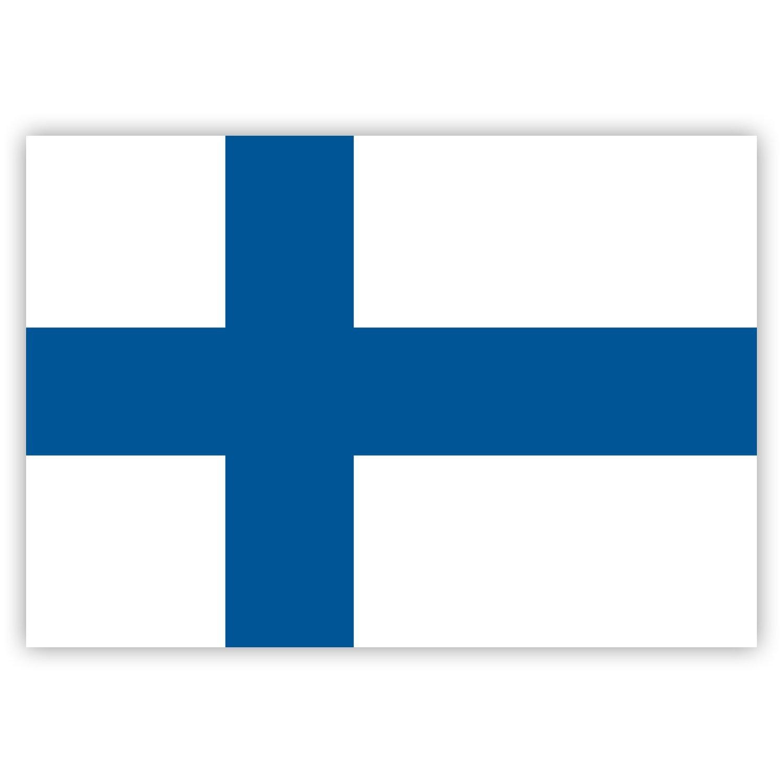 HouseholdBasics 2 x Aufkleber Finnland-Flagge 7,4 x 5,2 cm f/ür Innen und au/ßen