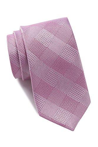 Ben Sherman Men's Pink Check Silk Tie by Ben Sherman