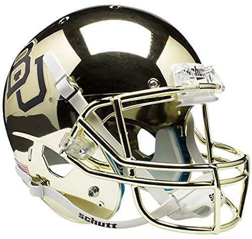 NCAA Baylor Bears Chrome Replica Helmet, One Size, White by Schutt