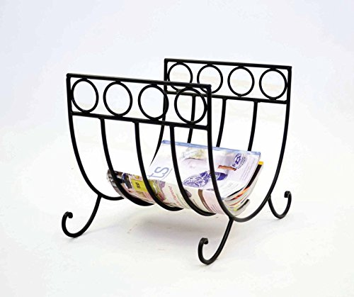 Wrought Iron Log Rack or Magazine Rack. 15 Inches High x 16 Inches Long x 14 Inches Wide. Bronze Color. Handmade.