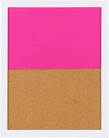 Q.AWB Tableros de Mensajes Tableros de Mensajes Pizarras Tablero de Corcho Pizarra magnética Cafetería Sencilla multifunción, 2 Colores (Color: Pink, Tamaño: 37.1x29.4cm): Amazon.es: Hogar