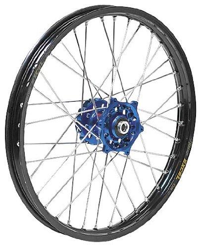 QTM/BREMBO OFFROA d/ATV Complete Rear Wheel - Dark Blue Talon Hub/Black Excel Takasago Rim - 2.15x18 , Position: Rear, Color: Blue, Rim Size: 18