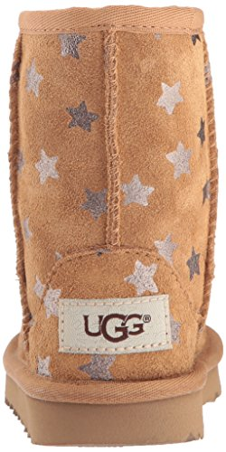 UGG Girls T Classic Short II Stars Pull-On Boot, Chestnut, 7 M US Toddler by UGG (Image #2)