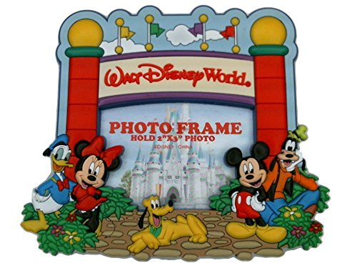 Disney Parks Soft Touch Magnetic Picture Frame - Fab 5 At Magic Kingdom Gates