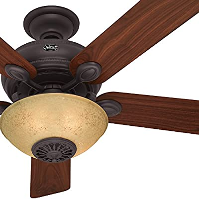 "Hunter Fan 52"" New Bronze Finish Ceiling Fan with Reversible Walnut / Cherry blades (Certified Refurbished)"