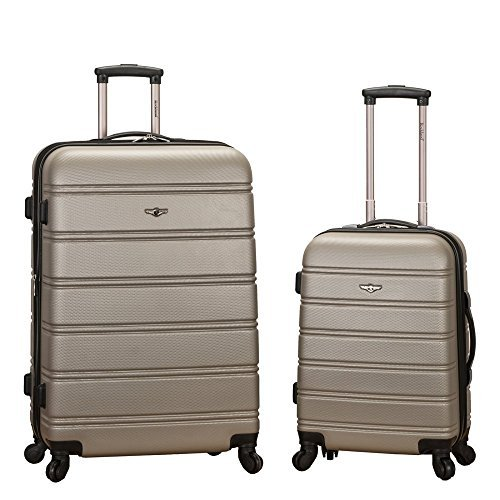 Best Buy! Rockland Luggage 20 Inch and 28 Inch 2 Piece Expandable Spinner Set