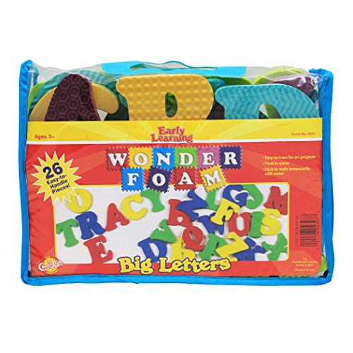 Chenille Kraft WonderFoam CK-4397 Big Letters, Assorted Colors, Assorted Sizes, 26 -