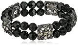1928-Jewelry-Double-Beaded-Black-and-Crystal-Stretch-Bracelet-7