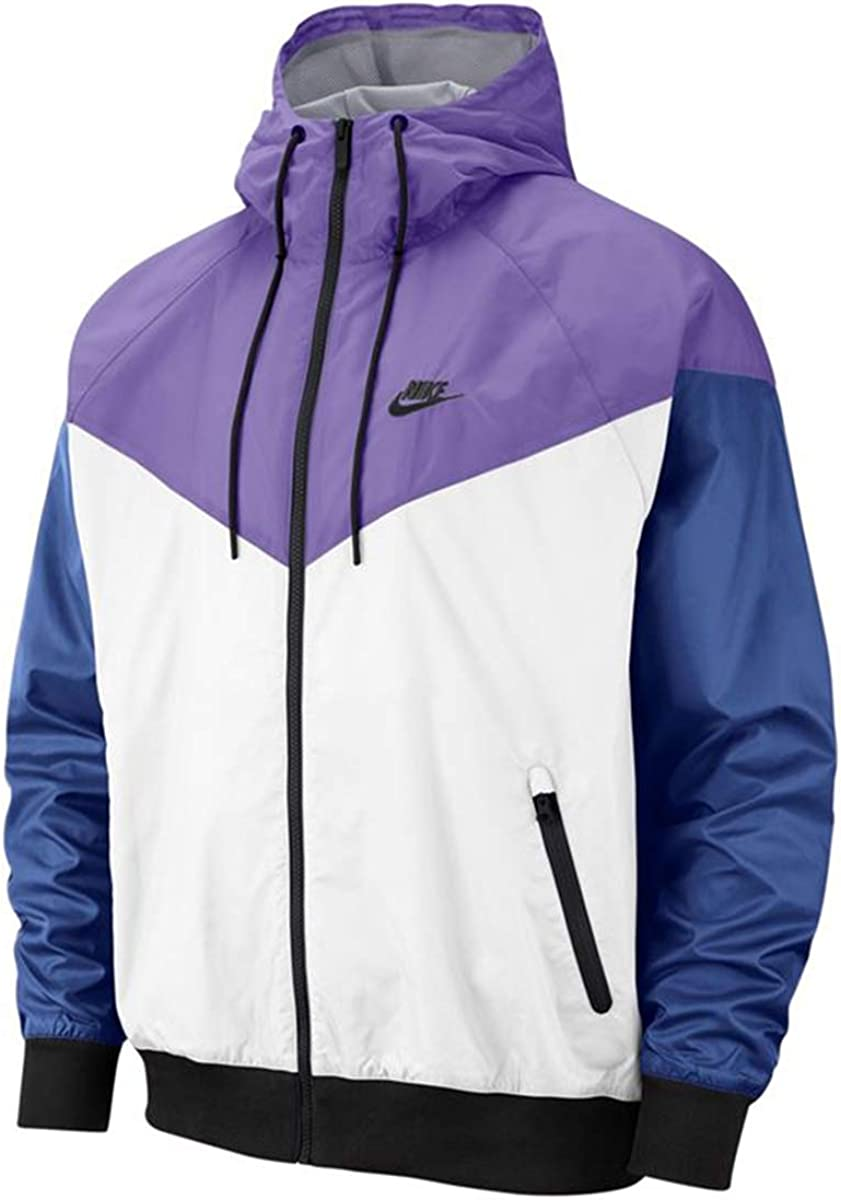níquel Adviento azúcar  Amazon.com: Nike Mens NSW Windrunner Hooded Jacket Ar2191-101: Clothing