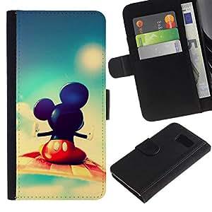 NEECELL GIFT forCITY // Billetera de cuero Caso Cubierta de protección Carcasa / Leather Wallet Case for Sony Xperia Z3 Compact // Mickey Fly