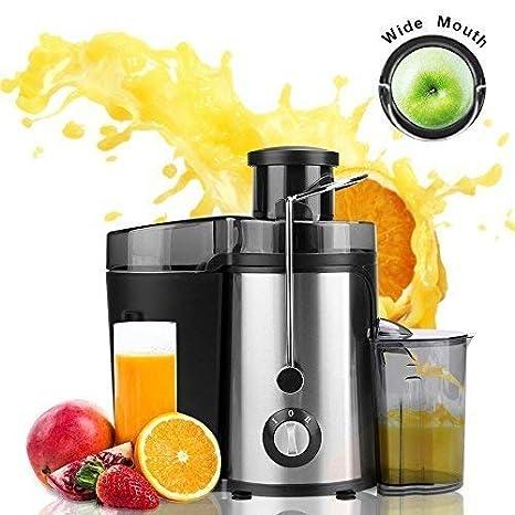 Meykey Licuadoras Para Verduras y Frutas 350W, Exprimidor y Extactor de Zumo Boca Ancha de 65mm, 2 Velocidades, Negro: Amazon.es: Hogar