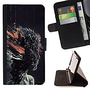 BullDog Case - FOR/Samsung Galaxy A3 / - / Head Explosion /- Monedero de cuero de la PU Llevar cubierta de la caja con el ID Credit Card Slots Flip funda de cuer