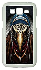 Eagle Spirit Chief Polycarbonate Hard Case Cover for Samsung Grand 2/7106 White