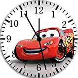 "Best IkEA clock - Disney Cars Mcqueen Wall Clock 10"" Will Be Review"