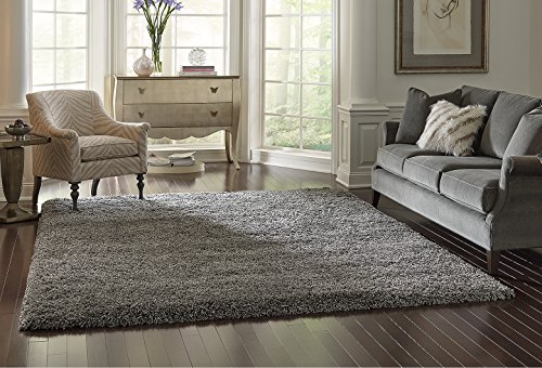 Amazon Com Gertmenian True Shags Collection Gray Shag Rug