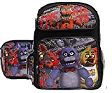 Five Nights At Freddy's New Vibrant Black Large Boys' School Backpack, Lunch Box -