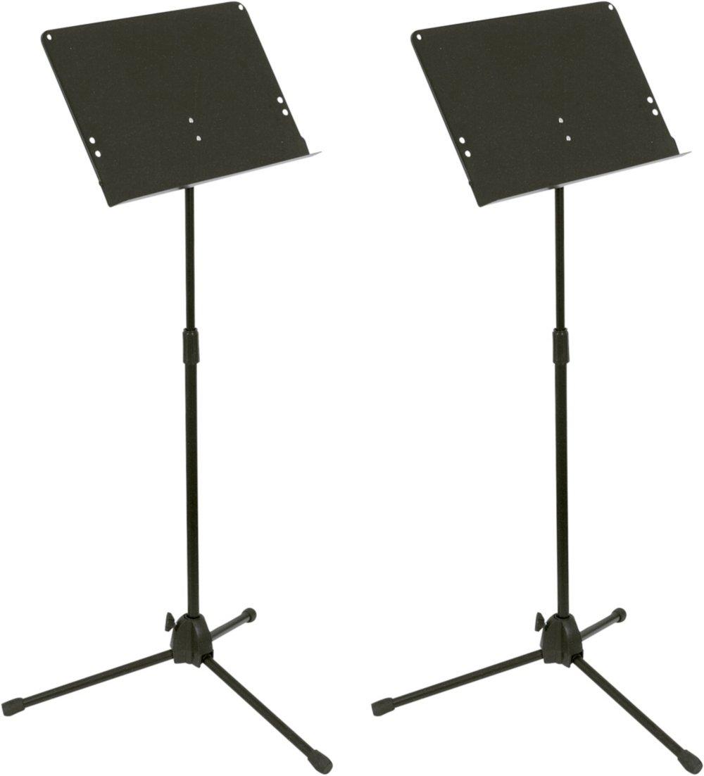 Musician's Gear Folding Music Stand 2-Pack Black