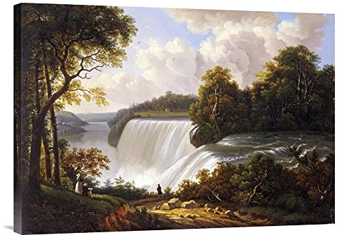 Global Gallery Budget GCS-264833-30-142 Victor Degrailly Niagara Falls Scene Gallery Wrap Giclee on Canvas Print Wall -