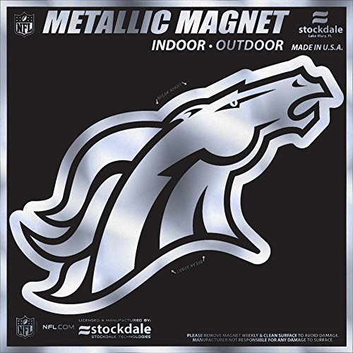 denver broncos metal car emblem - 3
