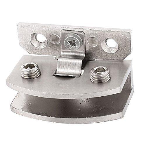 Badezimmer-Tür-Edelstahl-Klemmplatten-Klipp-Scharnier für 6-8mm Dickes Glas, Modell:, Tools & Baumarkt