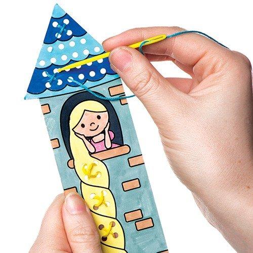 Baker Ross Kits de marque-pages Contes de fées à broder en points de croix que les enfants pourront fabriquer et décorer- Kit de loisirs créatifs pour enfant (Lot de 5)