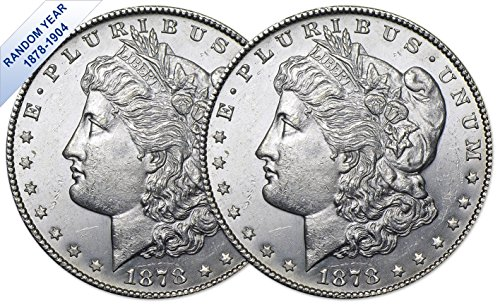 (1878-1904) Morgan Silver Dollar (BU) Two Coins Brilliant Uncirculated