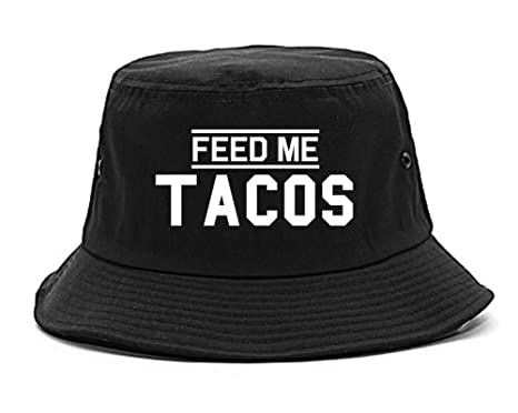 Feed Me Tacos Mens Bucket Hat Cap Black at Amazon Men s Clothing store  7e4fa681d8f