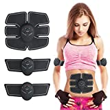 Abdominal Muscle Toner, Abdominal Toning Belt ABS Portable Body Trainer 6 Modes & 10 Levels Fitness Simple Operation Abdomen/Arm/Leg Training