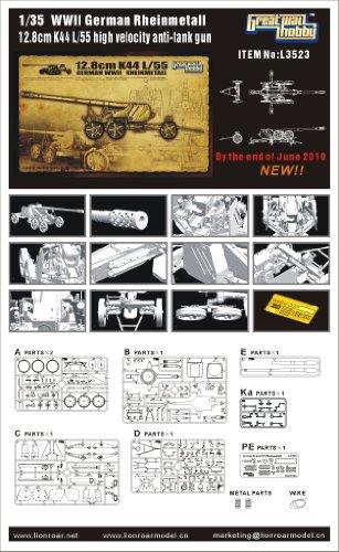 Great Wall Hobby 12.8cm K44 L/55 German WWII Rheinmetall 1:35 Scale Military Model Kit