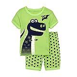 Tarkis 1-7 Years Boys Pyjamas Cartoon Dinosaur Short Sleeve Cotton T-Shirt and Shorts Summer PJS Set