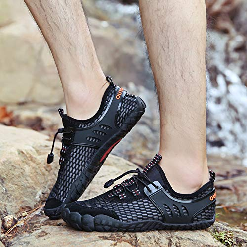 HULKAY Mens Fashion Barefoot Quick-Dry Water Sports Shoes丨Summer Cool Beach Swim Aqua Socks丨Pool Surf Shoes for Men