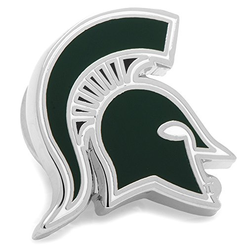 State Cufflinks Spartans Michigan (NCAA Michigan State Spartans Lapel Pin, Officially Licensed)