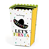 Big Dot of Happiness Personalized Mexican Fiesta - Custom Mexican Fiesta or Cinco de Mayo Party Favor Popcorn Treat Boxes - Custom Text - Set of 12
