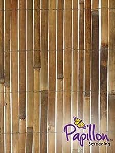 Primrose - Mampara de tiras de bambú (rollo de 4 x 2 m)