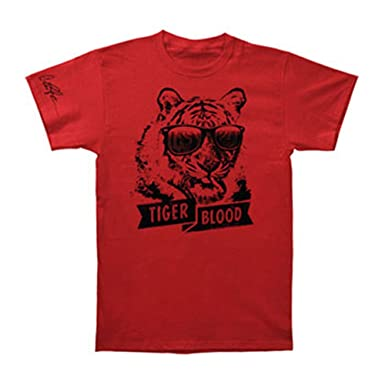 606be9978 Amazon.com: Charlie Sheen Men's Tiger Blood T-shirt Small Red: Clothing