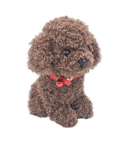 DearDo 8.6 Inch Small Poodle Pal Dog with Bell Puppy for sale  Delivered anywhere in Canada