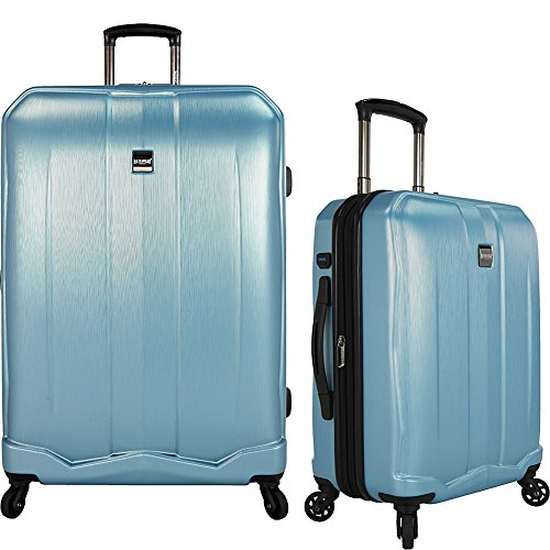(U.S Travelers Piazza 2-Piece Lightweight Expandable Luggage Set ( Teal + 22-Inch and 30-Inch))