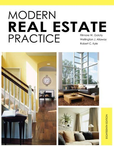 By : Modern Real Estate Practice Eighteenth (18th) Edition