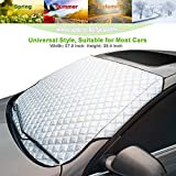 AMEIQ Car Windshield Window Sun Shade, Snow Cover, All Seasons Windscreen Protector, Best for Most Car Auto Vehicle SUV (THICK)