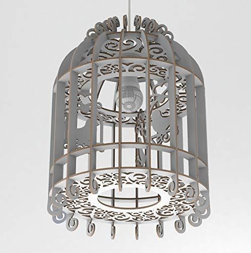 Lampadario Design Gabbia Uccelli Soffitto Lampada Sospension Shabby Chic Country