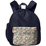 Dianqusha Colorful Pattern With Trippy Designed Roses Tulips Botany Childish The Boy's Bag Is A School Bag For Pupils.
