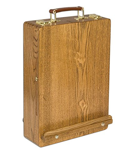 Soho Urban Artist Sketch Box and Table Artist Easel - All Media Table Easel and Sketch Box with 5 Compartments For Storage - Oiled - Box Sketch